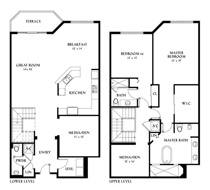 Peninsula ii condos 11 for lease rent peninsula ii for Floor plans florida