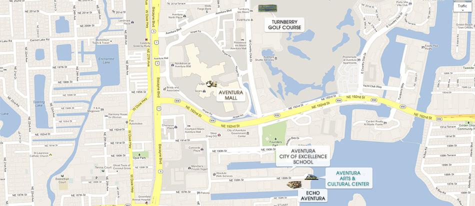 Aventura Florida Map.Echo Aventura Condos 39 For Sale Echo Aventura 3250 188th