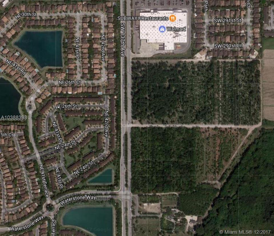 SW 288 St.(APPROX) & SW 137 AVE, Homestead, Florida 33033
